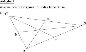 dreieck schwerpunkt einzeichnen individuelle mathe