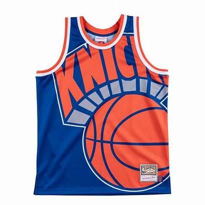 Jersey Knicks Face Basket York