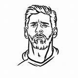 Messi Lionel Drawing Pages Printable Coloring Football Easy Draw Sheets Outline Neymar Para Argentina Soccer Fun Stencil Sports Shelter Lionelmessi sketch template