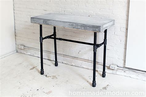 Homemade Modern Ep40 Concrete + Iron Side Table