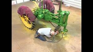 Timelapse Painting A John Deere B Tractor  1936 Unstyled