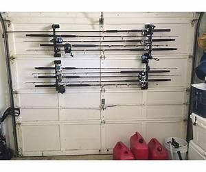 Cobra Storage Garage Door Fishing Rod Racks