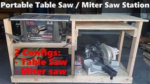 Compact And Portable Table Saw    Miter Saw Station