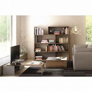 Table Basse Blanc Gris : temahome table basse dann noyer gris blanc ~ Nature-et-papiers.com Idées de Décoration