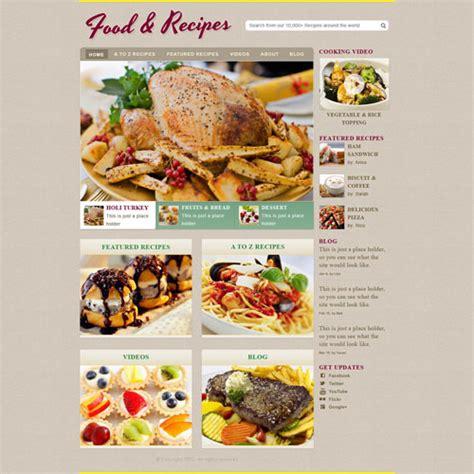 cooking recipe web template  website templates