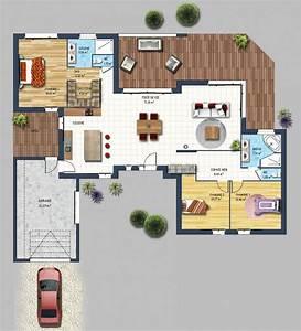constructeur maison contemporaine st gilles croix de vie With plan de maison 120m2 3 vaste villa detail du plan de vaste villa faire
