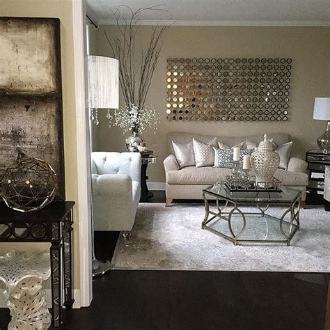 Black Cream And Silver Living Room Ideas   Room Image and