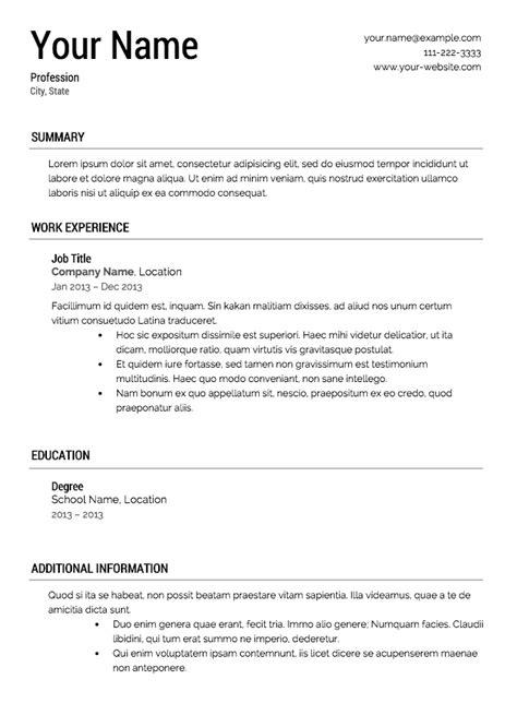 Free Professional Resume Templates | Latest Calendar