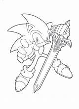 Sword Coloring Sonic Pages Colouring Hedgehog Printable Unleashed Clipart Blade Sheets Running Lego Cartoon Sheet Minecraft Drawing Shadow Boys Gaddynippercrayons sketch template