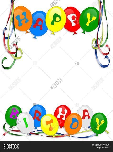 happy birthday balloons border image photo bigstock