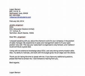 Thank You Letter  Senior Portfolio  Logan Benson