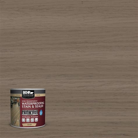 behr premium  oz st boot hill grey semi transparent