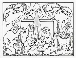 Christmas Nativity Coloring Pages For Adults To Print