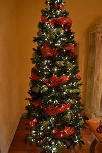 Christmas Tree With Mesh Ribbon Design