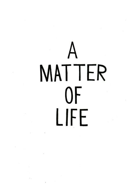 matter  life top shelf productions