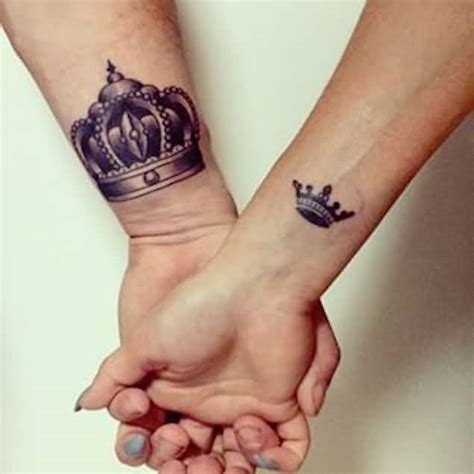 wrist cover   nice king queen crown tattoo