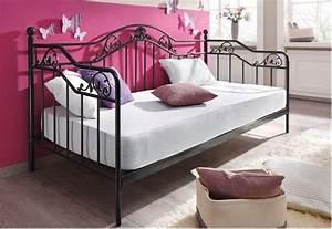 Metallbett 90x200 Schwarz : day bed metallbett schwarz lf 90x200 cm 9108 s von real ~ Eleganceandgraceweddings.com Haus und Dekorationen