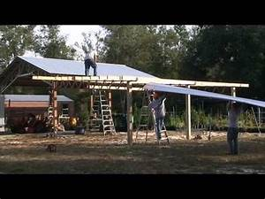 how to install lean to39s on a 20x40 steel truss pole barn With 20x40 pole barn cost