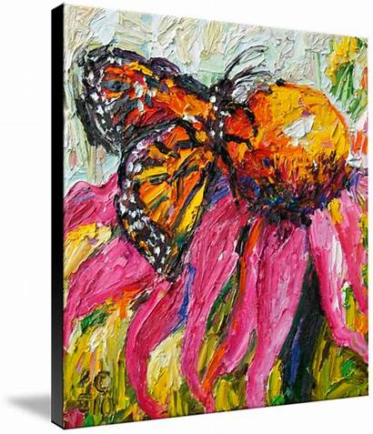 Butterfly Oil Monarch Painting Paintings Must Purple