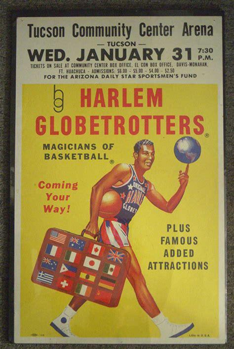 harlem globetrotters basketball team poster