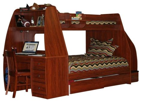 bunk bed with trundle and desk enterprise twin over full bunk bed with trundle desk