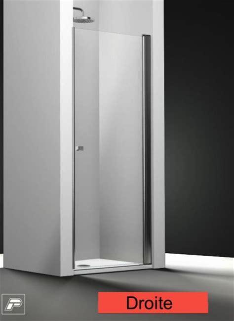 porte de battante porte de battante sensea premium 2 verre transparent chrom 70