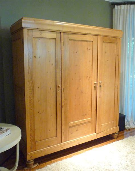 Antique Vintage Belgium Pine Armoire Tv Cabinet Ebay