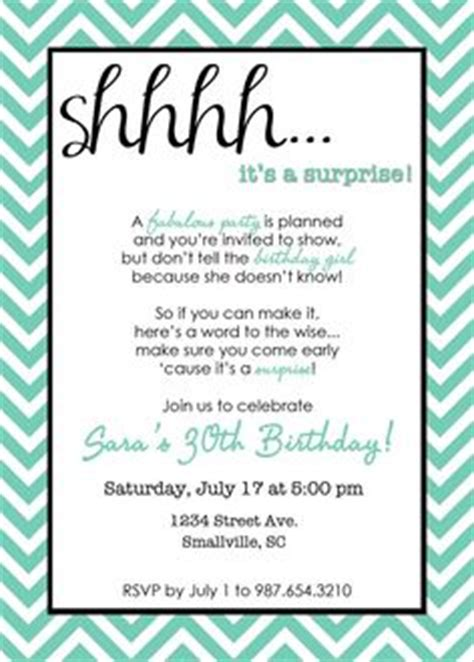 Party Invitation Templates Surprise Party Invitations