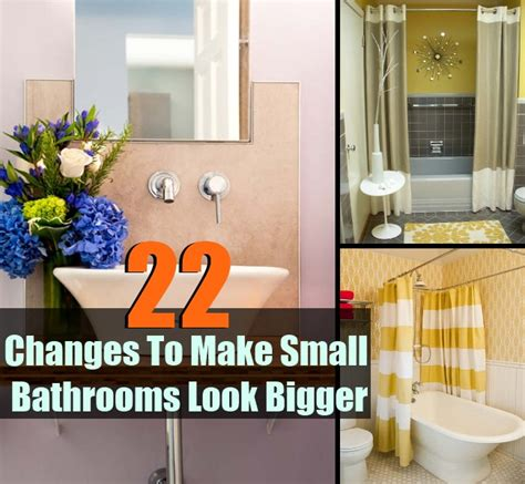 How To Make Small Bathroom Look Bigger by 22 Changes To Make Small Bathrooms Look Bigger