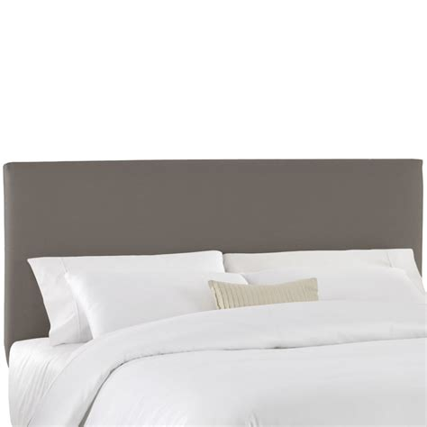 king size upholstered headboard in tan microsuede 913 4 in