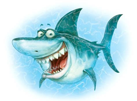 Animated Shark Wallpaper - desktop wallpaper smiling shark illustration hd