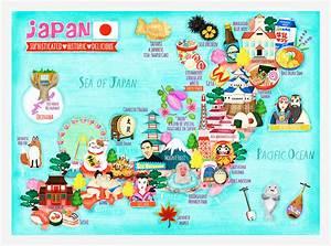 Japan Map Illustration on Behance