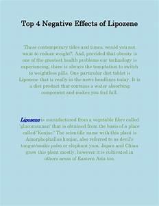 Top 4 Negative Effects Of Lipozene