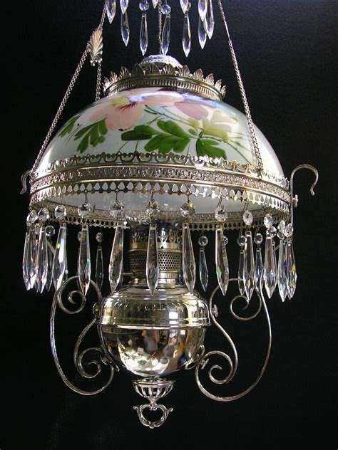 Kerosene Oil Lamp Wicks by Bradley Amp Hubbard Nickel Hanging Library Lamp Oil Lamp