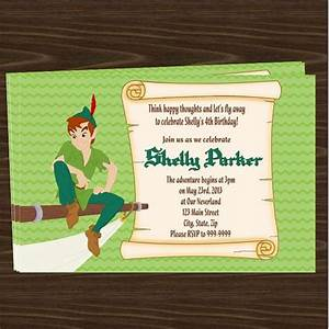 free peter pan birthday party invitations downloadable With peter pan invitation template