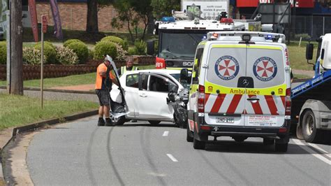 A Car Crash On Lake Road In Port Macquarie On March 5