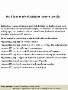 Executive Resume Samples 2015 Top 8 Lead Medical Assistant Resume Samples