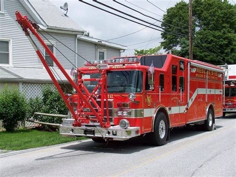 heavy rescue willow street fire company fire engine