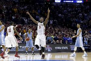 Time expires on UNC as Iowa State moves on to Sweet ...