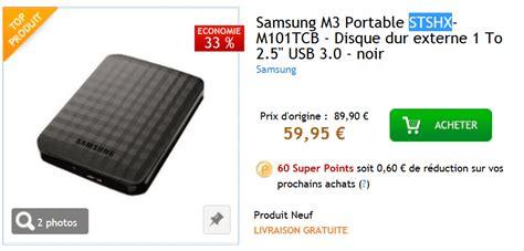 Un Disque Dur Samsung D'1to Au Prix Imbattable De 59,95