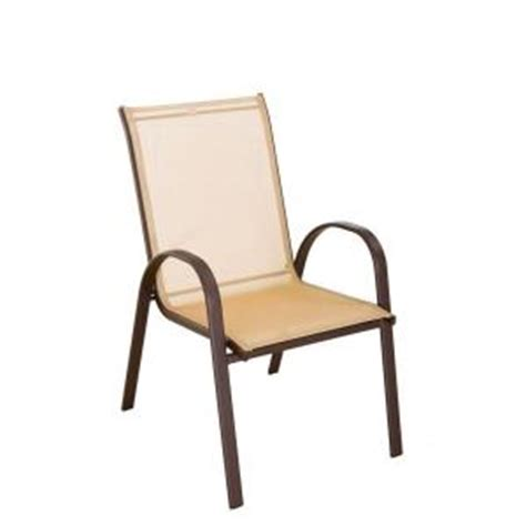 Sling Stacking Chair Home Depot by Navona Sling Patio Chair Fcs00015j The Home Depot