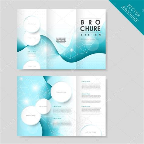 Modern Brochure Template by Abstract Modern Tri Fold Brochure Template For Business