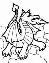 Coloring Dragon Printable Dragons sketch template