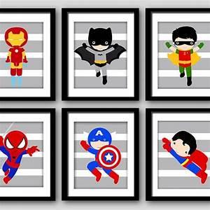 21 best superhero bedroom images on pinterest bedroom for Superhero wall art