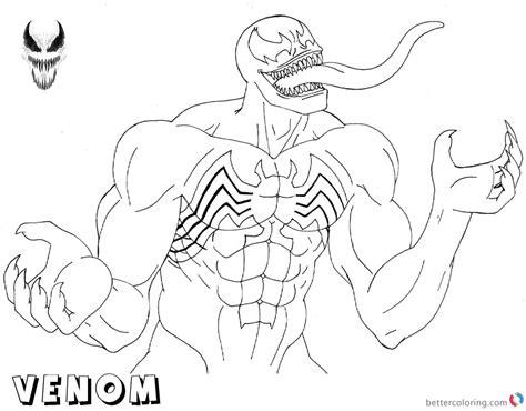 venom coloring pages   venom lineart  printable
