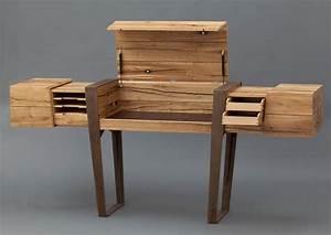 Design Sekretär Modern : sekret r wood beam desk by simon schacht multifunctional ~ Sanjose-hotels-ca.com Haus und Dekorationen