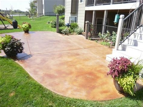 stained concrete patio outdoor