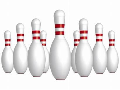 Bowling Silhouette Clipart Pins Clip Vector Transparent