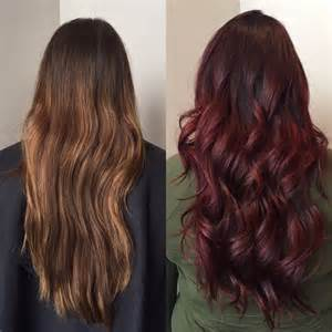 Dark Black Cherry Hair Color