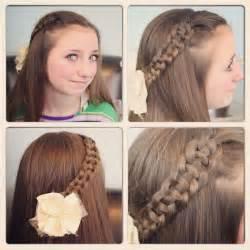 Cute Girl Hairstyle Braids Easy